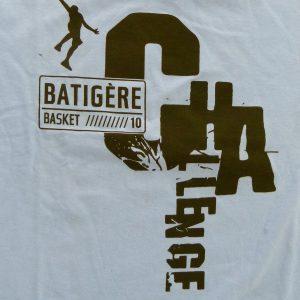 tee shirt personnalisé pour le challenge Batigere pour le basket