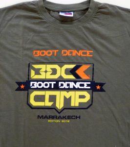 tee shirt personnalisé pour le boot dance