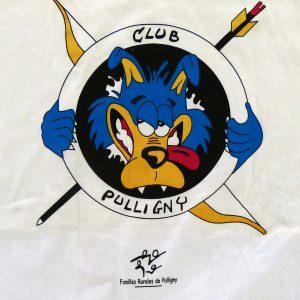 tee shirt personnalisé pour les familles rurales de pulligny et leur club
