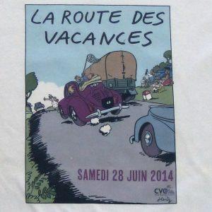tee shirt personnalisé pour la route des Vacances de 2014