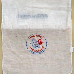 textile personnalisé pour une rose un espoir, le cœur des motards